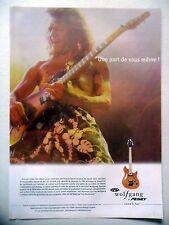 PUBLICITE-ADVERTISING :  Guitare PEAVEY Wolfgang  03/2002 Eddie Van Halen