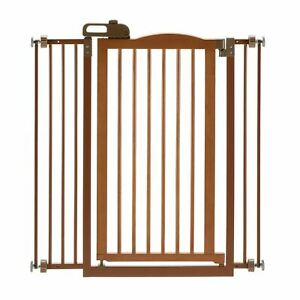 """Richell Tall One-Touch Pressure Mounted Pet Gate II Autumn Matte 32.1"""" - 36.4"""" x"""