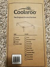 The Original Coolaroo Elevated Pet Dog Bed for Indoors & Outdoors, Lrg Grey