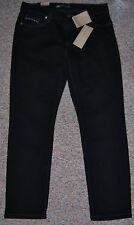LEVI'S Black Mid Rise Skinny Leg Jeans Gray Silver Stitching Size 12S or 31 NWT