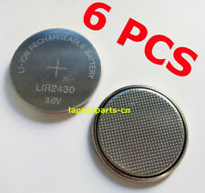 6 PCS x New 3.6V Rechargeable LIR2430 Battery Button Cell Can replace CR2430