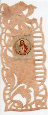 527 Sacro Cuore di Gesù -Madonna sul retro canivet vecchio santino holycard