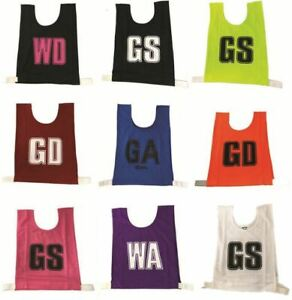 Senior Netball Bibs - Assorted Colors (set of 7)