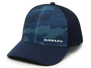 Oakley Men's Silicone Bark Trucker Print 2.0 Cap O Hydrolix fabric-Fathom- Cool
