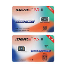 iDeal II Unlock Turbo Sim Card NEW For iPhone X 8 7 6/6S Plus 5/5S SE LTE 4G GPP