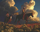 "Mark Maggiori THUNDERHEAD RIDERS Art Print 27"" x 22"" Western Cowboy IN HAND"