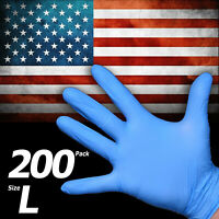 Nitrile Latex Vinyl- Free 100 x Poly Gloves   Size XL (Fit XL In Sealing Bag