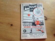 18/8/1956 FULHAM v WEST HAM