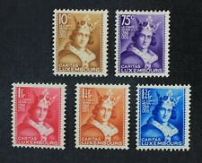 CKStamps: Luxembourg Stamps Collection Scott#B55-B59 Mint H OG