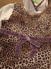 MONNALISA Bebe Leopardo Vestido de terciopelo y con capucha T Top Edad 12 meses