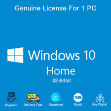 Windows 10 Home 32&64 bit Activation Key Link Digital Genuine
