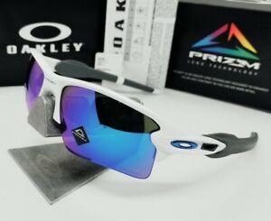 "OAKLEY polished white/sapphire ""PRIZM"" FLAK 2.0 XL OO9188-94 sunglasses! NEW!"