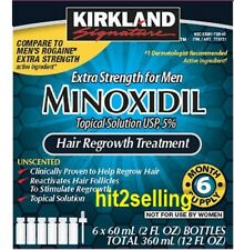 6 Months 5% Minoxidil Extral Strength For Men Hair Regrowth Kirkland sealed Box