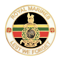 Corps of Royal Marines Crest 'Lest We Forget' Pin Badge - MOD Approved