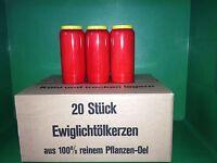Grabkerzen Ewiglicht 100 % Pflanzenöl bis zu 7 Tage 20 Stück