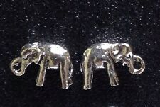 New ! Sterling Silver Thick & Solid Elephant Post / Stud Earrings 1 Matched Pair