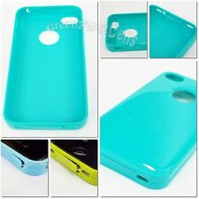 Blue Green DUST PROOF Soft TPU Silicone Phone Case Skin cover For iPhone 4 4S