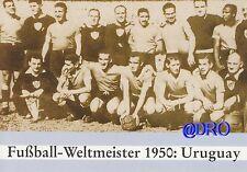 Weltmeister 1950 - offizielle Siegerpostkarte + Uruguay