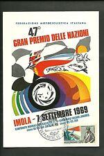 Cartolina 1969 47° Gran Premio Motociclistico  Nazioni Imola Annullo Speciale