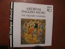 MEDIEVAL ENGLISH MUSIC-Hilliard ensemble-CD- -fino 2 cd spese fisse-oltre vedi