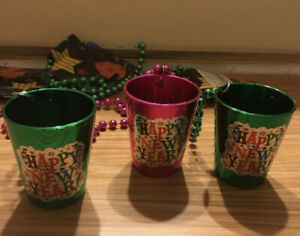 Small Happy New Year Cups-3 Pcs