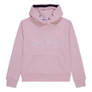 Jack Wills Logo Script Hoodie Girls OTH Hoody Hooded Top Kangaroo Pocket
