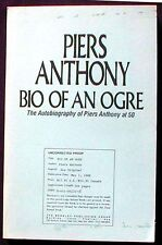 Bio of an Ogre:The Autobiography of Piers Anthony Advance Reader's Copy PBk. VG