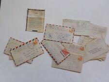 15 WWII Letters Corporal Wilkes Barre Pennsylvania V-Mail WW II VTG War Lot WW2
