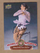 Alissa Czisny signed 2010 Upper Deck USA Olympic Figure Skating  card # 225
