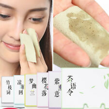 100Pcs Tissue Papers Makeup Cleansing Oil Absorbing Face Paper Facial Cleanse dL