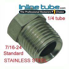 7/16-24 Inverted Flare STAINLESS STEEL Tube Nut Fitting 1/4 Brake Line EA STN12