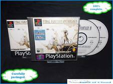Final Fantasy Anthology PS1 Playstation 1 black label +FREE Final fantasy figure
