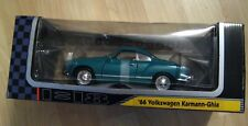 Karmann Ghia 1966 Volkswagen Model Yat Ming Car - 1998 YatMing 1:18 Scale Box