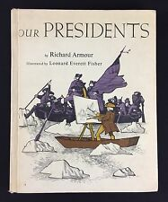Vtg 1960s Childrens Book Our Presidents Richard Armour Fisher HC Library Edition