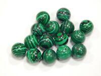 Malachitgrün Perlen 10mm Kugel Synthetischer Schmuckperlen  15Stk R301