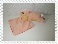 L - Doudou Peluche Tigrou et sa Couverture Vichoy Orange  Blanc Disney Nicotoy
