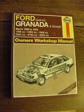 FORD GRANADA & SCORPIO OWNERS REPAIR MANUAL 1985 to1993