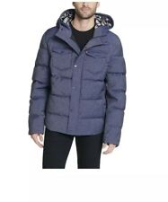 Mens Levi's Quilted Puffer Trucker Hybrid Jacket  X-Large Blue Worldwide Ship