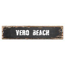 SP0379 VERO BEACH Street Sign Bar Store Cafe Home Kitchen Chic Decor Gift