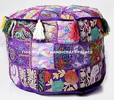 Large Indian Floor Pouf Ottoman Cover pouffe pouffes Foot Stool Round Pouf cover
