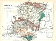 Antique map, Hampshire