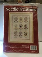 """Needle Treasures Counted Cross Stitch Kit English Herb Garden 12x16"""" D3"""