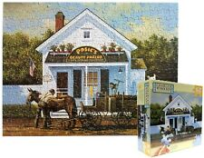 Charles Wysocki's Beauty Parlor 300 Piece Jigsaw Puzzle EZ Grasp MB COMPLETE