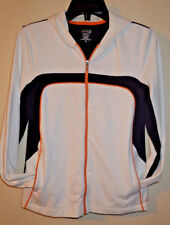 Izod PerformX Cool FX Workout Jacket Full Zip Up Womens Size Small Black White