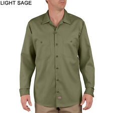 New Mens 2XL XXL Dickies Industrial Long Sleeve Shirt $40 LL536 Light Sage