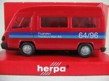 """Herpa 043014 Mercedes-Benz 100 D Bus """"Flughafen Frankfurt/Main"""" 1:87/H0 NEU/OVP"""