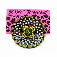 Betsey Johnson Women's Green Crystal Dandelion Flower Charm Brooch Pin Gift