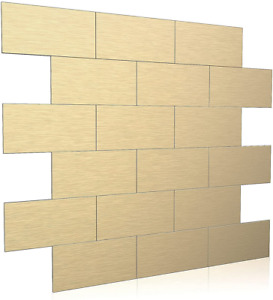 BeNice Stick on Tiles Kitchen, Self Adhesive for Bathroom 5sheets, Gold