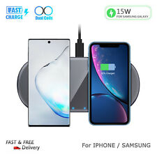 Dua 15W Qi Wireless Fast Charger Dock For Samsung Galaxy Note 10/9 Plus S10/S9