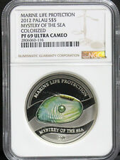 Palau 2012 Marine Life Protection PEARL Mystery of Sea OYSTER Silver NGC PF69